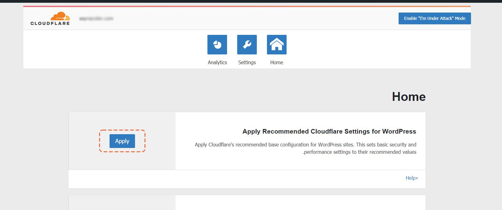 تنظیم cloudflare بر روی وردپرس